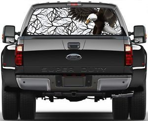 Camo Savage Snow Eagel Rear Window Graphic Decal Truck SUV Vans Ver 1