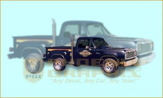 1978 Dodge Midnight Express Truck Decals Stripes Kit