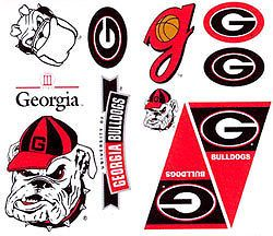 22 Big Georgia Bulldogs Wall Stickers Car Truck Decals