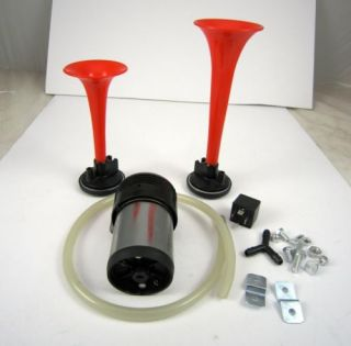 Complete Air Horn Kit Compact Compressor 12V Car Truck Accessories