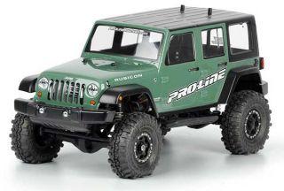 Pro Line Jeep Wrangler Unlimited Rubicon SCX10 Rock Crawler Body 3336 00