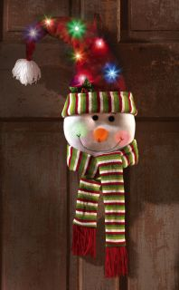 LED Color Changing Snowman Winter Door Decoration Holiday Christmas Decor New