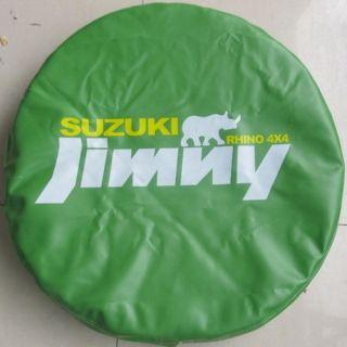 """Suzuki Jimny Rhino Spare Wheel Tire Cover Protector PVC Pouch 25""""26""""27"""" Green S"""