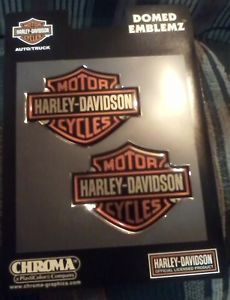 Harley Davidson Chroma Domed Emblemz Decals Stickers for Auto Truck Motorcycle
