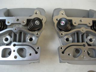 Harley Davidson Complete Cylinder Heads Kit Big Bore 17072 03 Twin Cam Silver