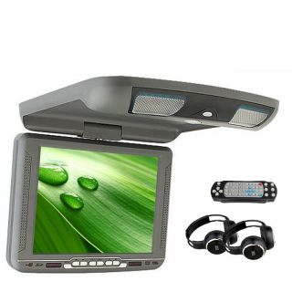 "Qualifid Gray 10 4"" Rood Mount Flip Down Car DVD Player Wireless Games US Stock"