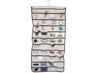 The Macbeth Collection 42 Pocket Hanging Jewelry Organizer in Shag