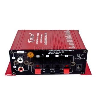 2 Channel Twin Power IC Mini Audio Power Stereo Amplifier for Home Car Boat