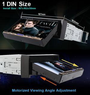 "Single DIN in Dash HD 7"" Car DVD Player GPS Nav iPod Bluetooth Radio Camera Map"