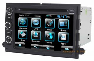 2009 10 11 12 Ford F 250 Navigation DVD Stereo CD Radio Sirius iPod Touch Screen