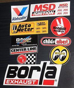 Lot of 10 Automotive Racing Stickers NASCAR NHRA Drag Stock Car Decals 7