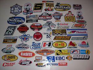 Lot of 50 Automotive Racing Stickers NASCAR NHRA Drag Stock Car Decals