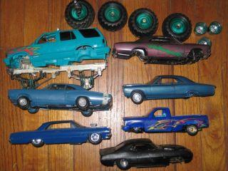 7 Plastic Model Kit Car Truck Junkyard Parts Repair Lot