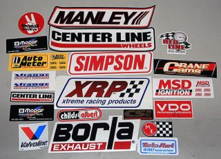 Lot of 20 Automotive Racing Stickers NASCAR NHRA Drag Stock Car Decals 17