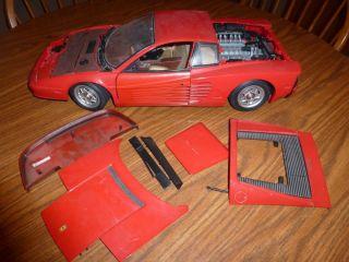 Pocher Ferrari Red Car Parts