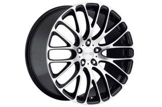 "22"" Audi Q7 22x10 MRR HR6 Machined Black Wheels Rims"