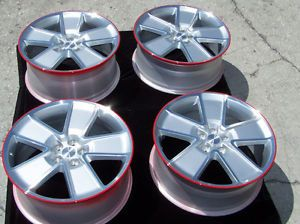 """21"""" 8 5 9 5 Factory Chevrolet Camaro Wheels Rims Silver Red Line Synergy Package"""