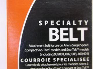 Genuine Ariens Sno Thro Sno Tek Specialty Attachment Snow Blower Belt 07200108