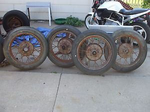 Model A Ford Wheels and Tires 4 40 4 50 21 Hotrod Rat Rod