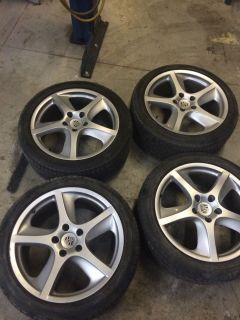 "20"" Porsche Cayenne Sport Techno Wheel and Tires Silver Wheels Rims"