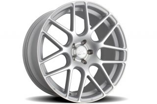 "20"" Rennen RS7 Silver Concave Staggered Wheels Rims Fits BMW E46 M3 Coupe Cabrio"