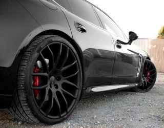 """22"""" Giovanna Kilis Wheels Black BMW 6 Series 640 650 F12 F13 Staggered Mesh Rims"""