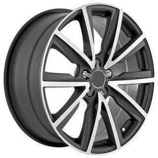 19 inch Audi Wheels Rims Matte Black