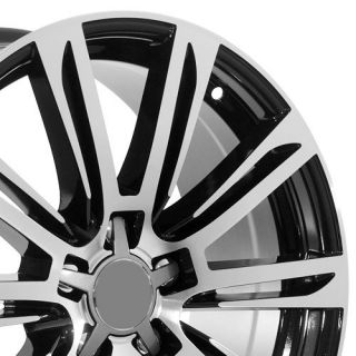 19 inch Black Audi Wheels Rims Fit A4 S4 A6 S6 A6 A8 Quattro TT TTS