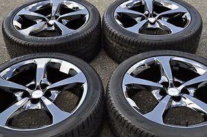 "20"" Camaro SS Black Chrome Wheels Rims Tires Factory Wheels 2013' 2014'"