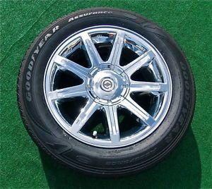 Set 4 Genuine Factory Chrysler 300C Hemi Chrome 18 inch Wheels 95 Tires 300