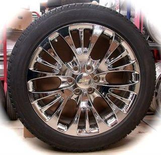 "New Chevy Silverado Tahoe Suburban Avalanche Chrome 22"" Wheels Rims Tires CK366"