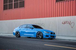 "19"" Eurotek UO8 Matte Black Staggered Rims Wheels Fits BMW E92 E93 328 335"
