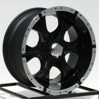 17 inch Black Wheels Rims Chevy GMC 1500 6 Lug Truck Yukon Tahoe Helo Maxx 6