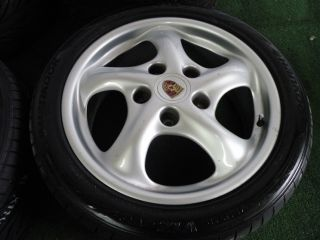 "17"" Factory Porsche Carrera 911 Wheels 993 996 Narrow Body C2 C4 928 944 Tires"