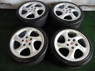 18 Porsche Carrera Wheels 911 Narrowbody 993 996 944 928 Turbo Twist Tires C2 C4