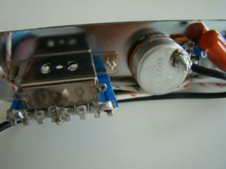 Telecaster Quality Wired Control Plate Chrome with Orange Drop Pots and Switch