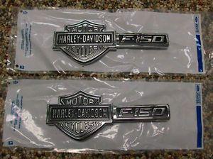 09 12 F 150 F150 Genuine Ford Parts Harley Davidson Fender Emblems Pair