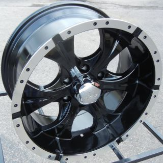 "18x9"" Black Helo 791 Wheels Rims Chevy Silverado GMC Sierra 1500 Titan Tacoma"