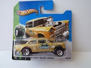 2013 RARE Hot Wheels Car 55 Chevy Bel Air Gasser