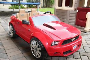 Power Wheels Ford Mustang Car Electric 12V Ride on Red