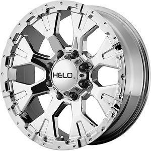 "18"" Chrome Helo 878 Wheels Rims Ford F250 F350 Super Duty Excursion Powerstroke"