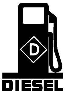 Diesel Fuel Pump Logo Vinyl Decal Sticker Fumes Powerstroke Duramax Truck