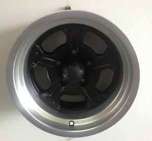 "15"" Granite Alloy GA8 Black Machined Wheel 15x8 5x4 75 19mm 5 Lug 5x120 65"