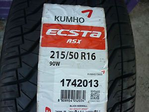 1 New 215 50 16 Kumho Ecsta ASX Tire