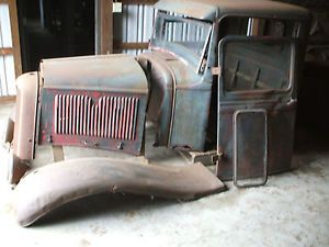 1934 Ford Truck Cab Doors Hood Grille No Frame or Running Gear