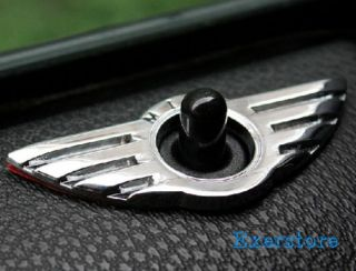 Mini Cooper Silvery Wing Sticker Auto Door Lock Knobs Pins Central Locking Parts