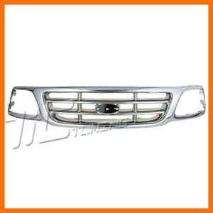 1999 2004 Ford F150 Chrome Frame Bar Insert Grille Grill New Front Body Parts