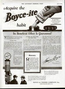 1925 Boyceite Engine Gas Pump Globe Visible Pump Car Ad