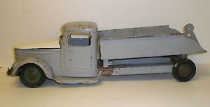 "Vtg Antique 20s 30s Turner Pressed Steel Large Toy Truck Metal 20"" Hood Opens"