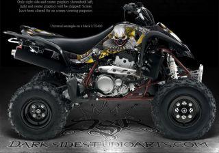 """Suzuki 03 08 LTZ400 Quadrunner Graphics """"The Freak Show"""" for Yellow Parts Z400"""